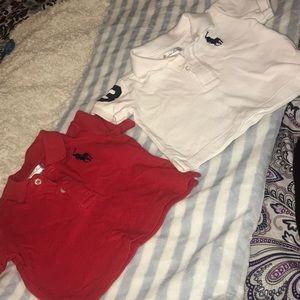2 Polo Short Sleeve Shirts